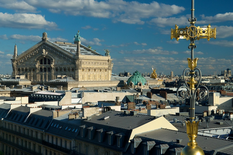 Paris from the top... of Galeries Lafayette and Printemps